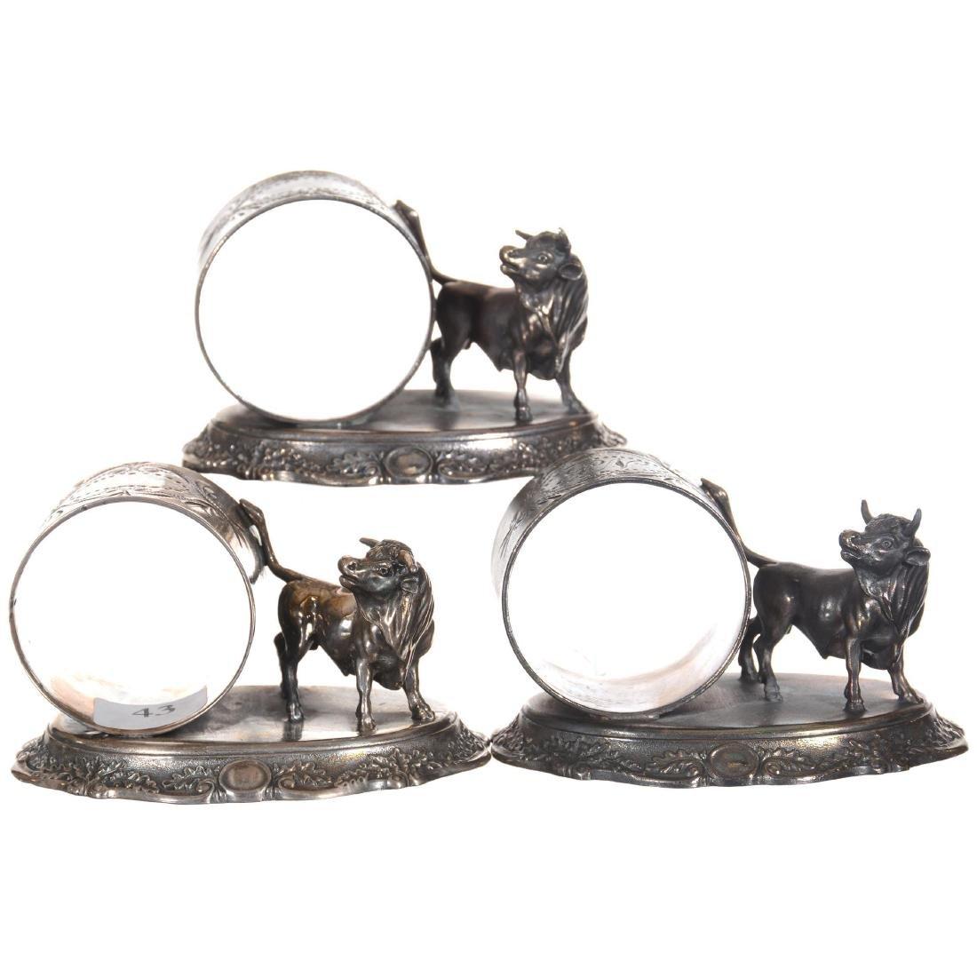 Three Silver-plate Napkin Rings