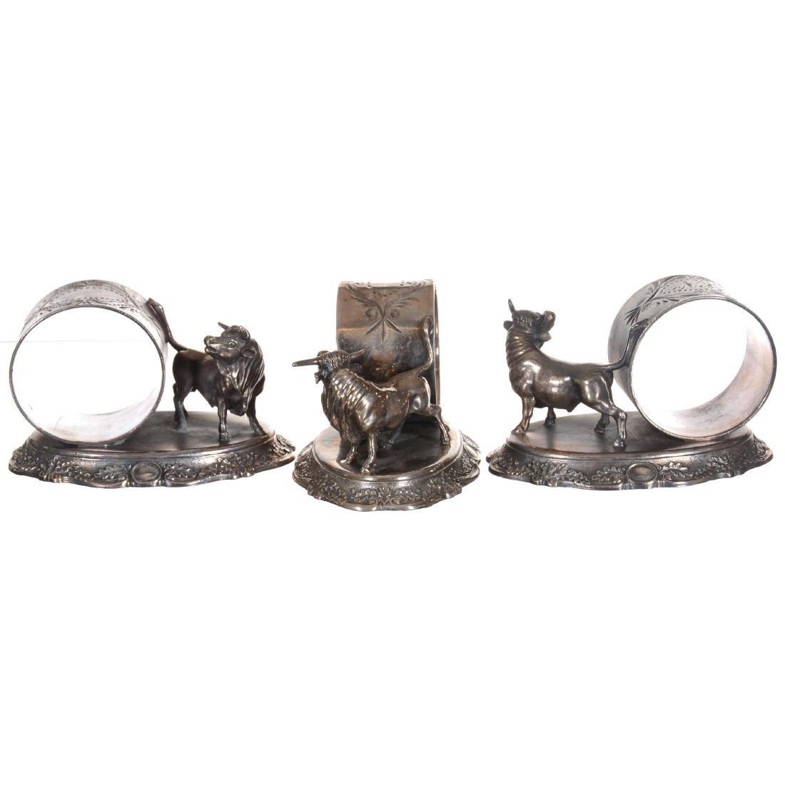 Three Silver-plate Napkin Rings - 2