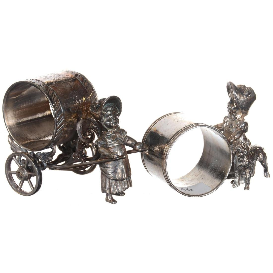 Two Silver-plate Napkin Rings