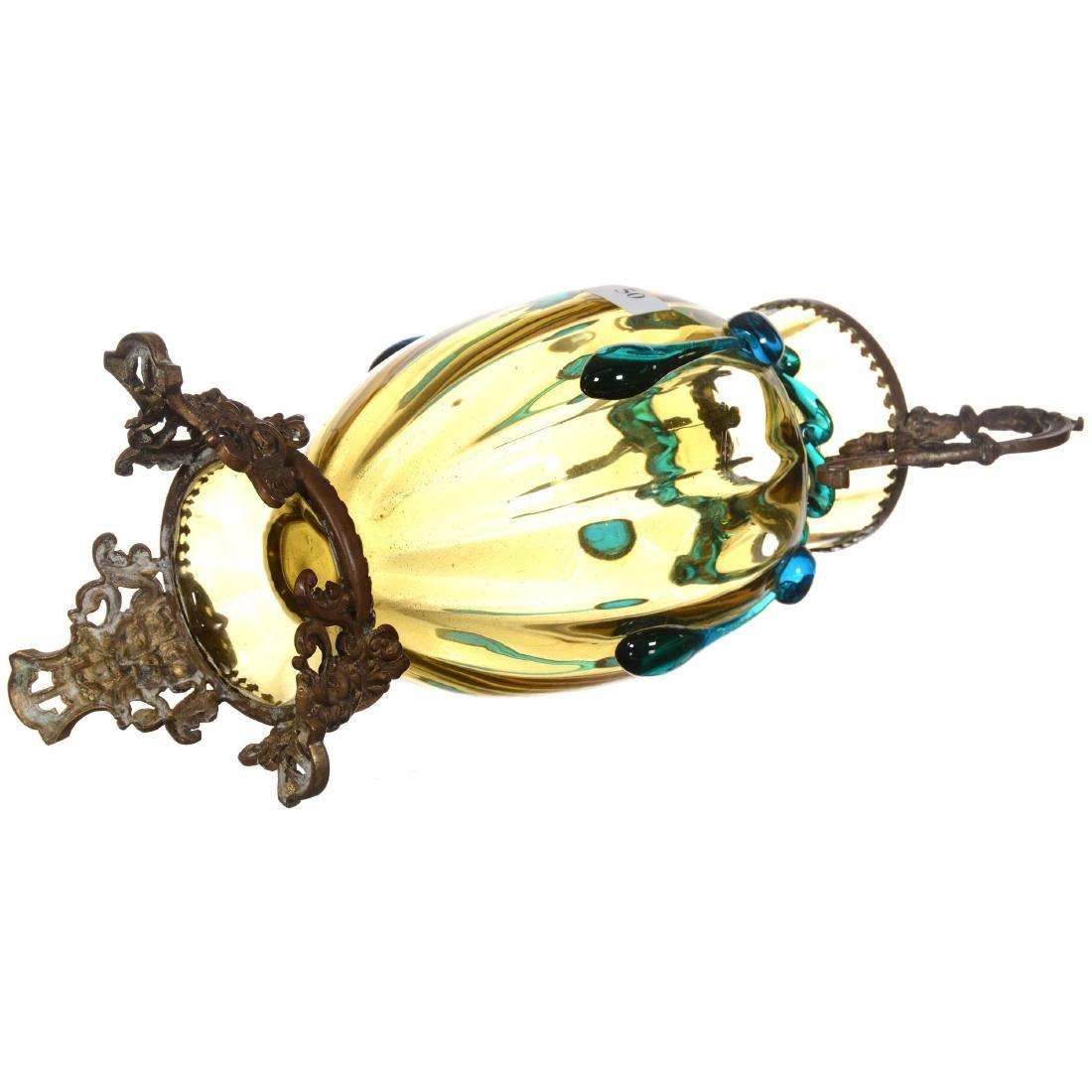 Moser Style Art Glass Vase - 2