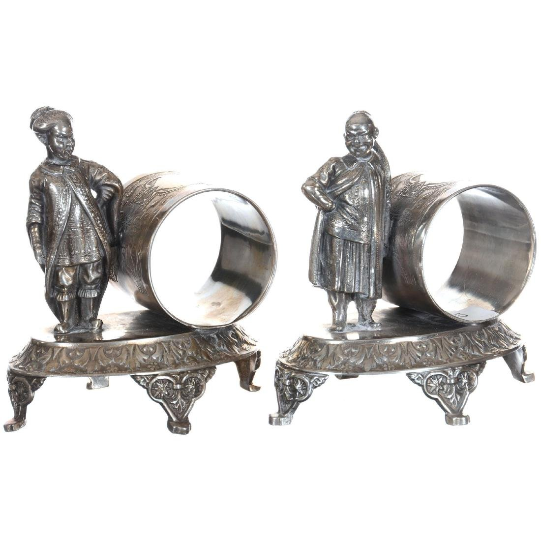 Pair Silver-plate Napkin Rings