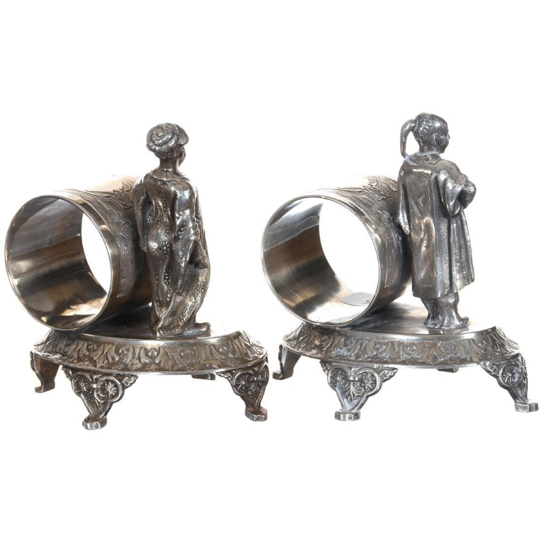 Pair Silver-plate Napkin Rings - 2