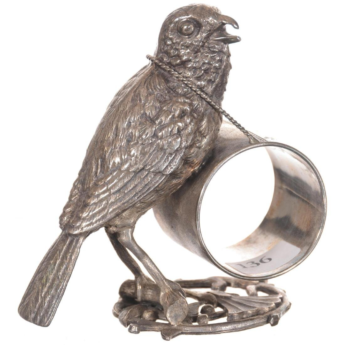 Figural Bird Silver-plate Napkin Ring
