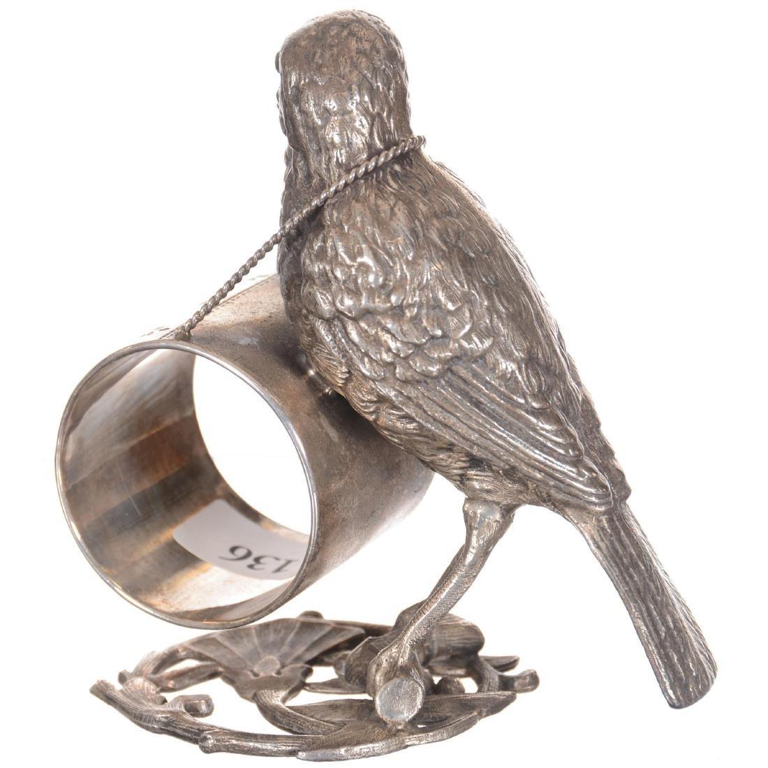Figural Bird Silver-plate Napkin Ring - 2