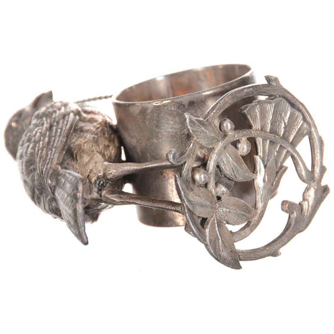 Figural Bird Silver-plate Napkin Ring - 3