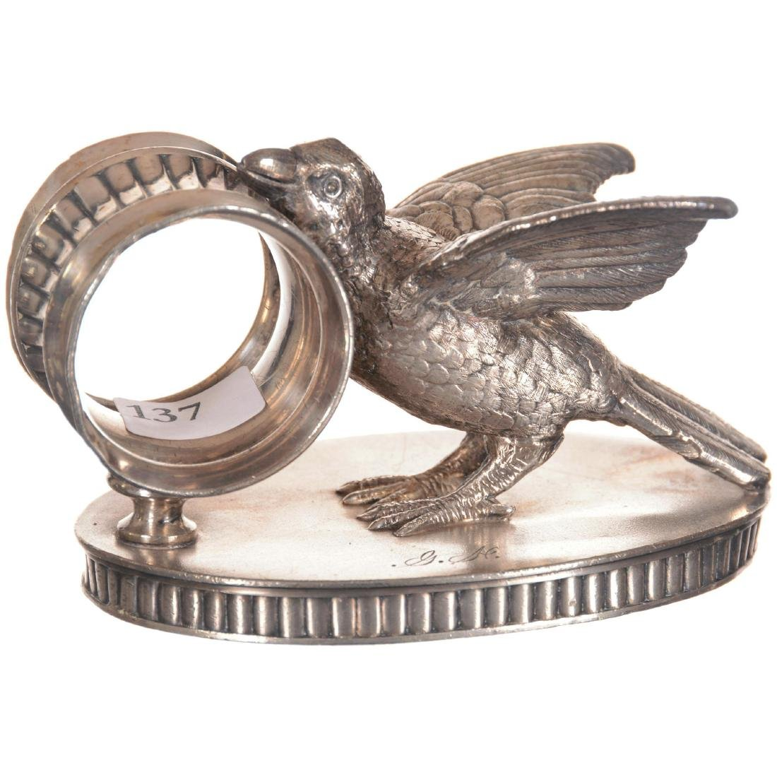 Figural Bird Silver-plate Napkin Ring