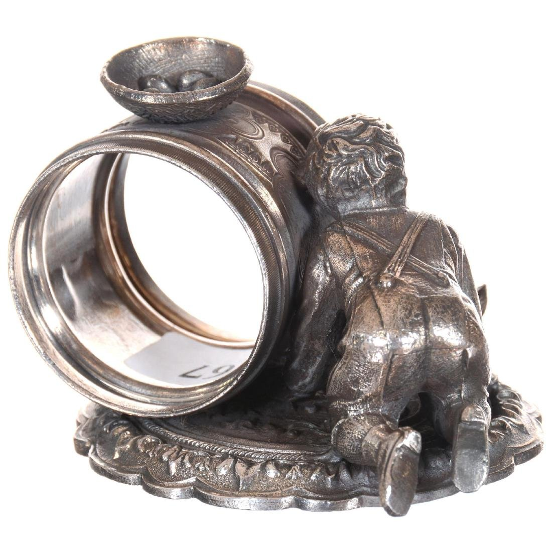 Two Figural Silver-plate Napkin Rings - 3