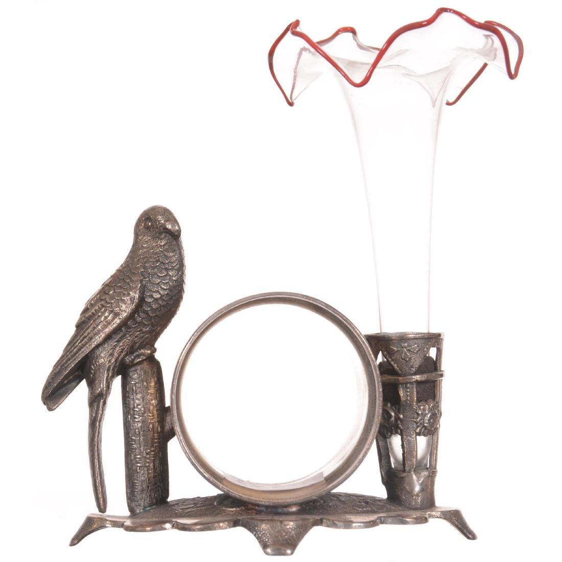 Figural Silver-plate Napkin Ring/Bud Vase