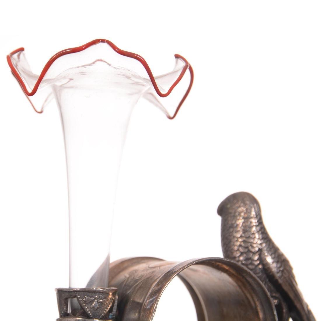 Figural Silver-plate Napkin Ring/Bud Vase - 4