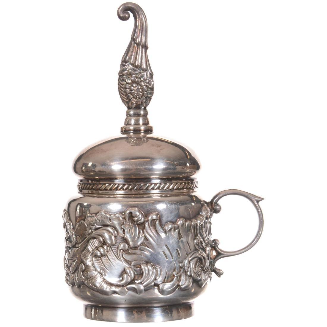Derby #08 Original Silver-plate Glue Pot