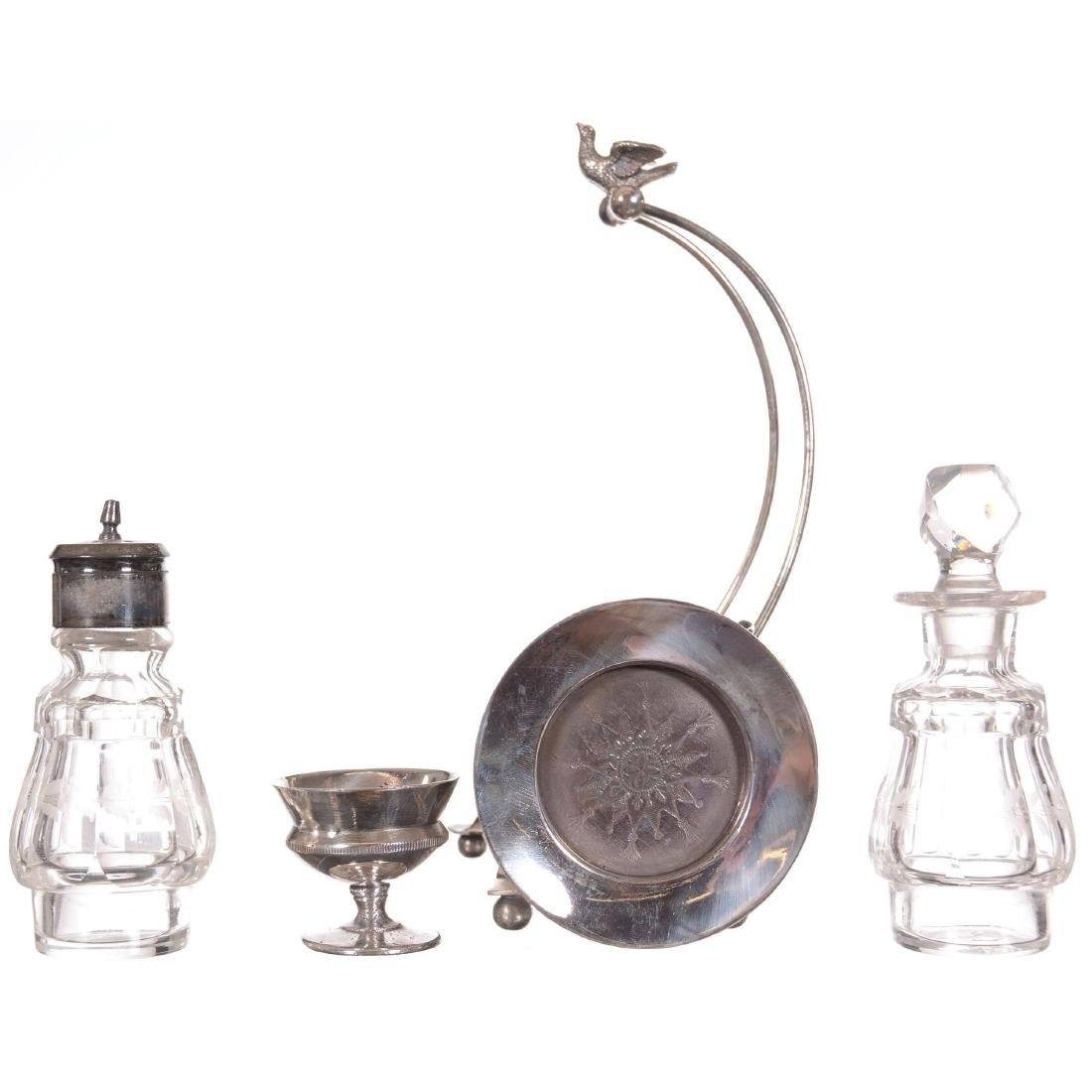 Silver-plate Condiment Set - 2