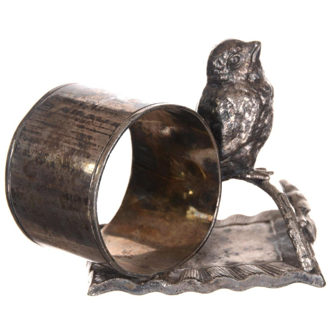 Two Figural Chick Silver-plate Napkin Rings - 4