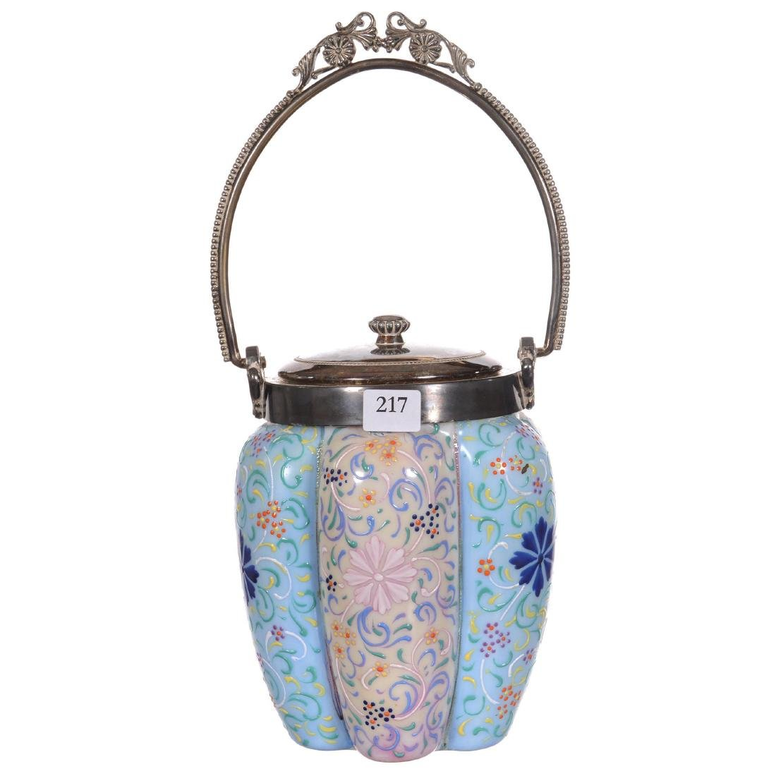 Art Glass Biscuit Jar