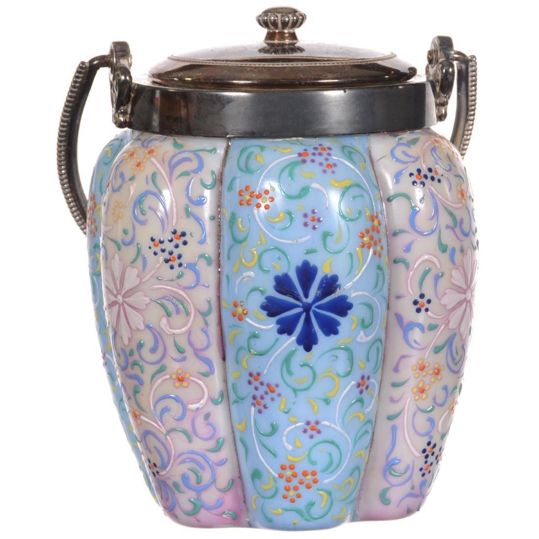 Art Glass Biscuit Jar - 2