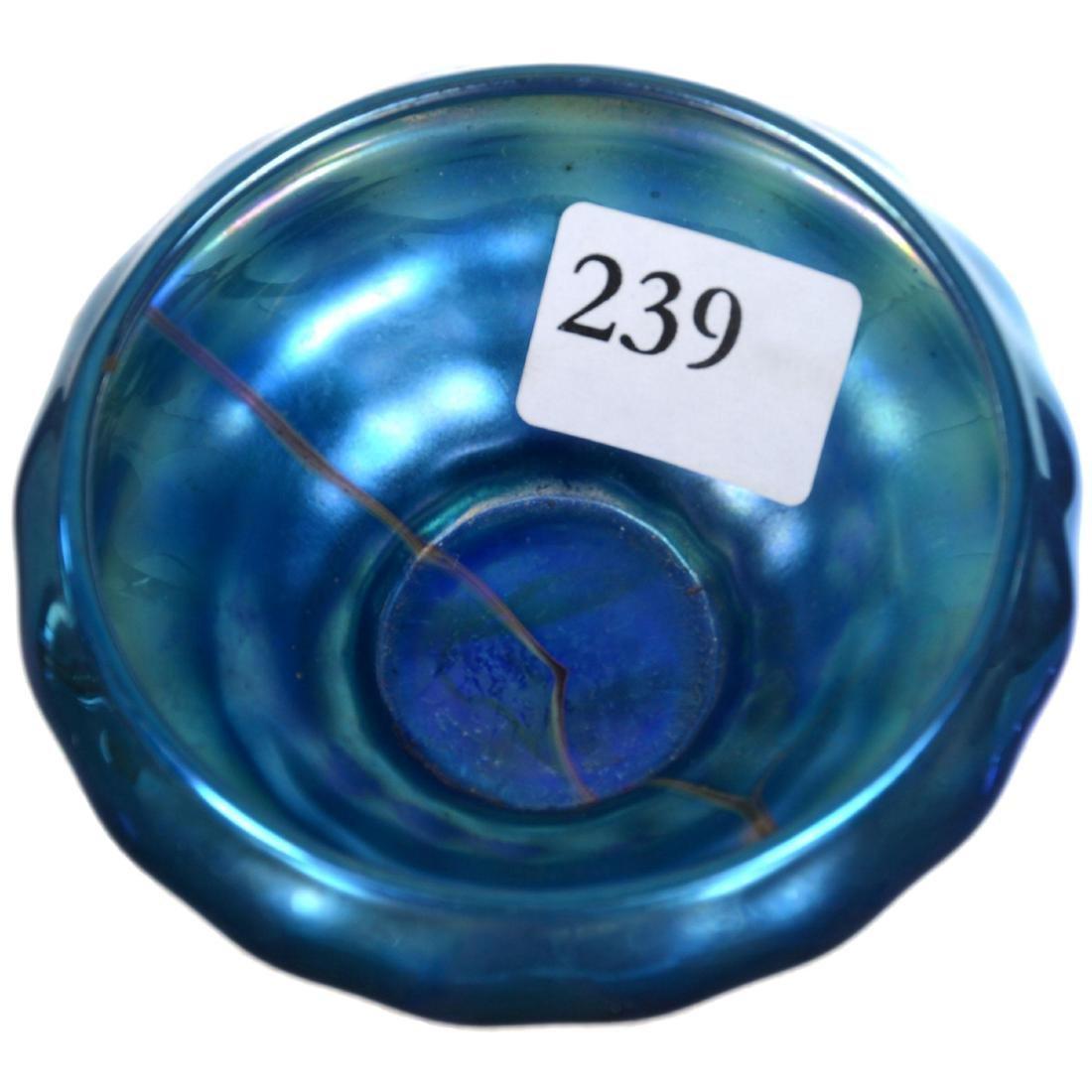 Unmarked Steuben Blue Aurene Salt Dip - 2