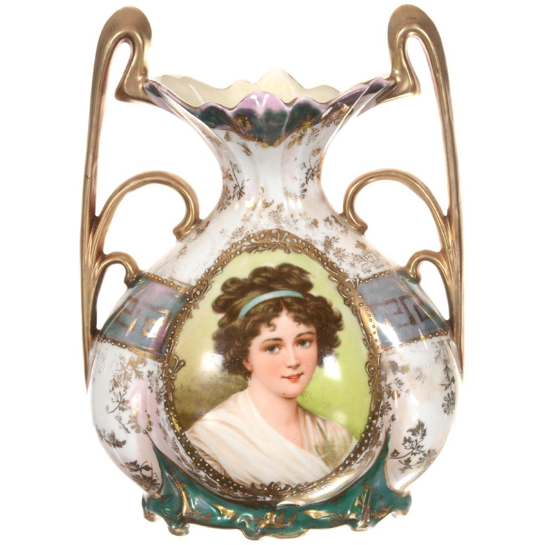Royal Vienna Two-Handled Vase