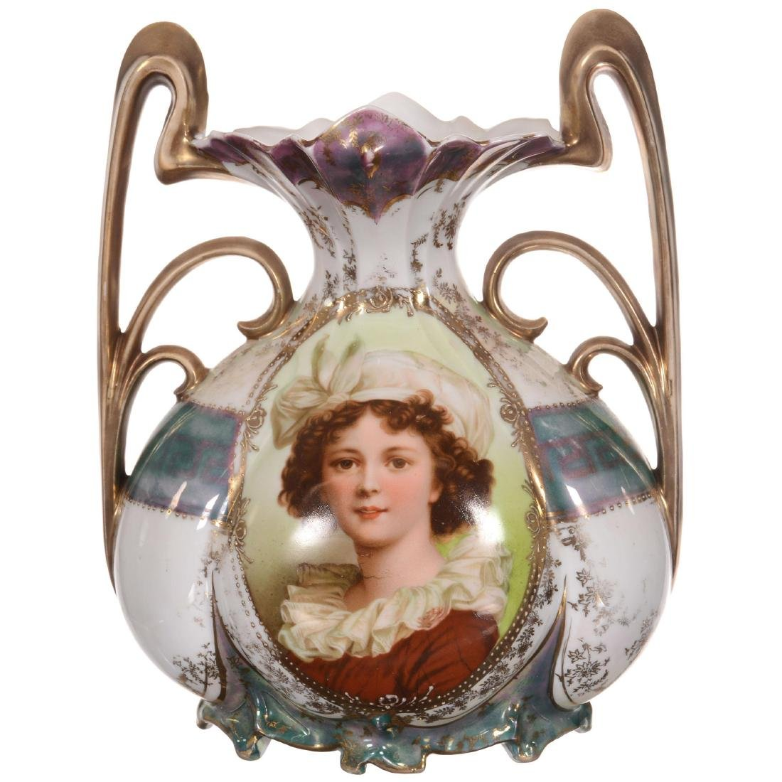 Royal Vienna Two-Handled Vase