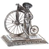 Figural Silverplate Paperweight