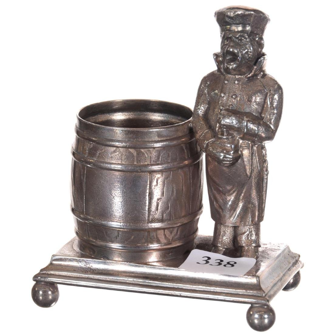 Figural Silver-plate Toothpick Holder