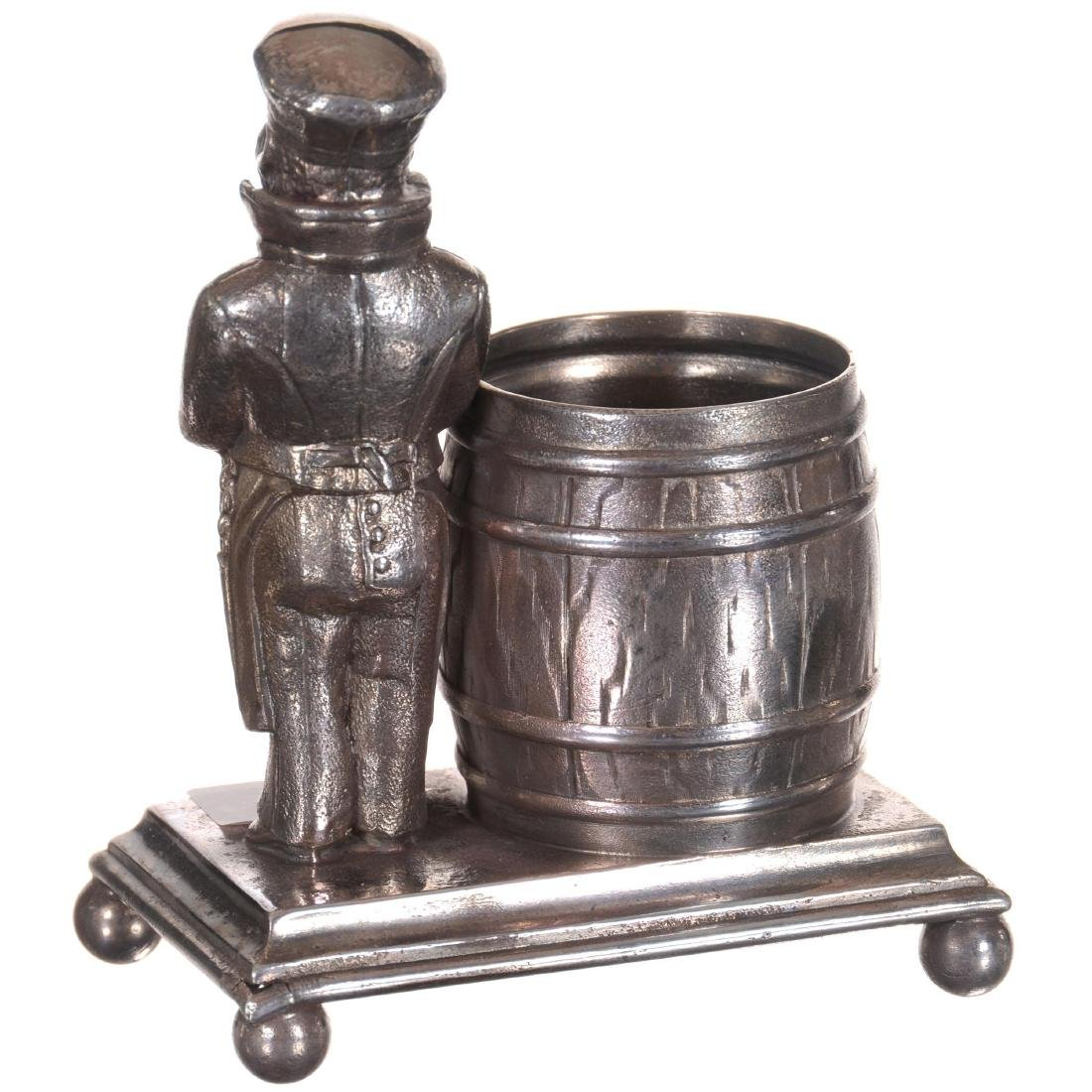 Figural Silver-plate Toothpick Holder - 2