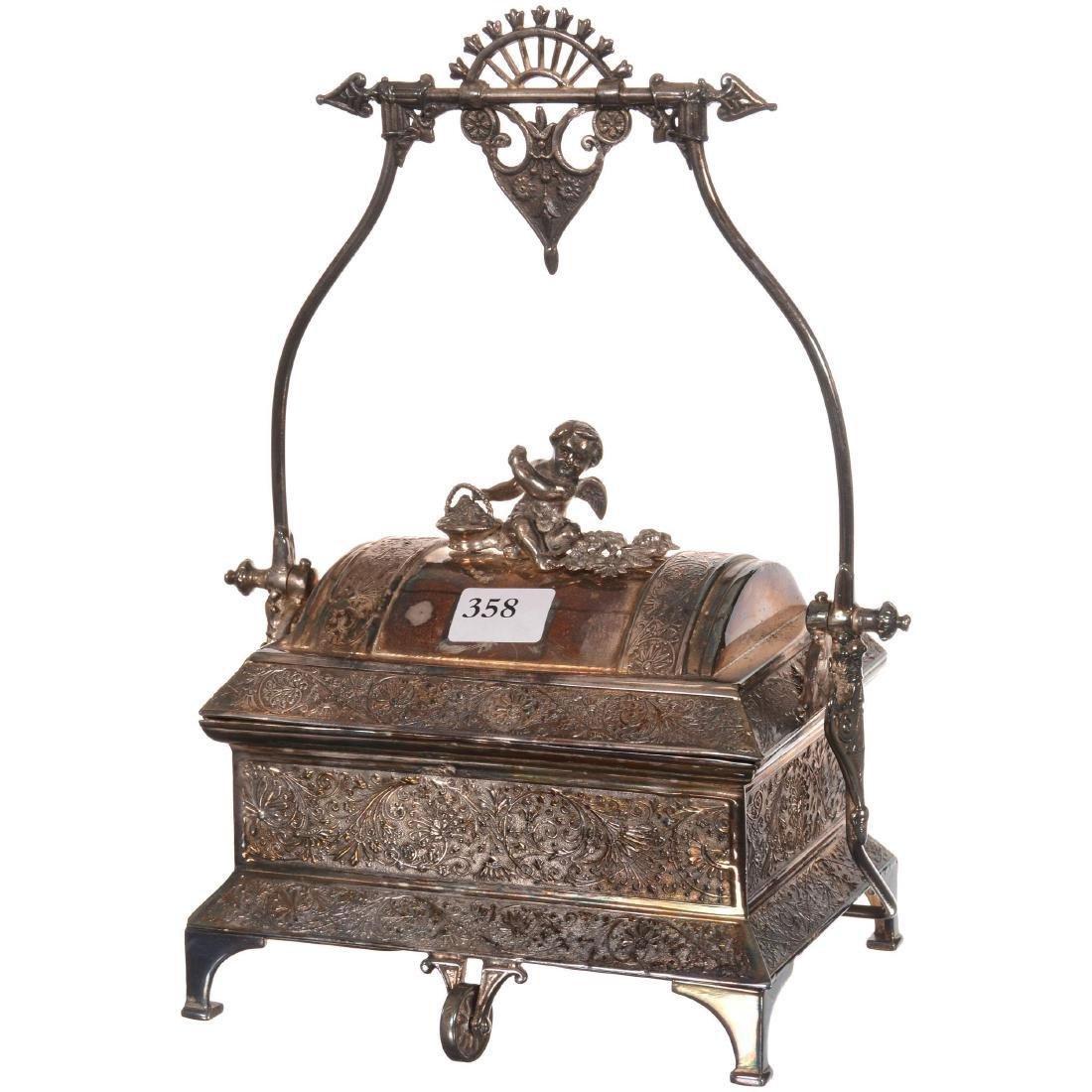 Silver-plate Mechanical Jewel Box