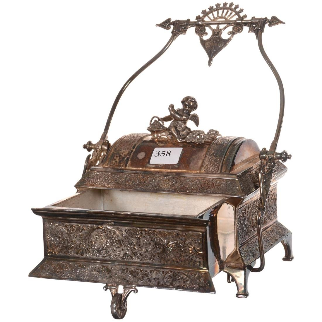 Silver-plate Mechanical Jewel Box - 2