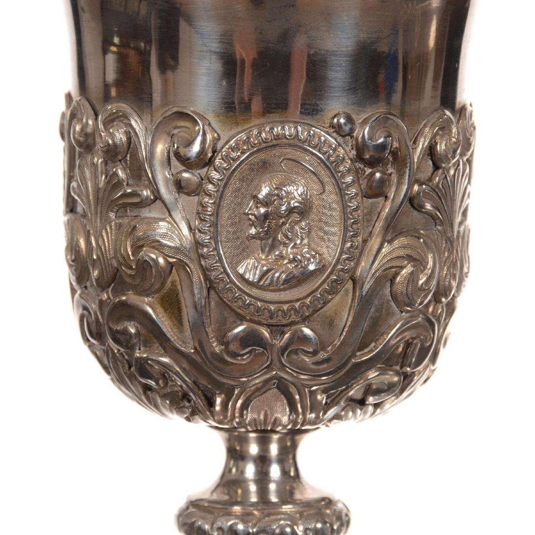 Antique Silver Communion Chalice - 4