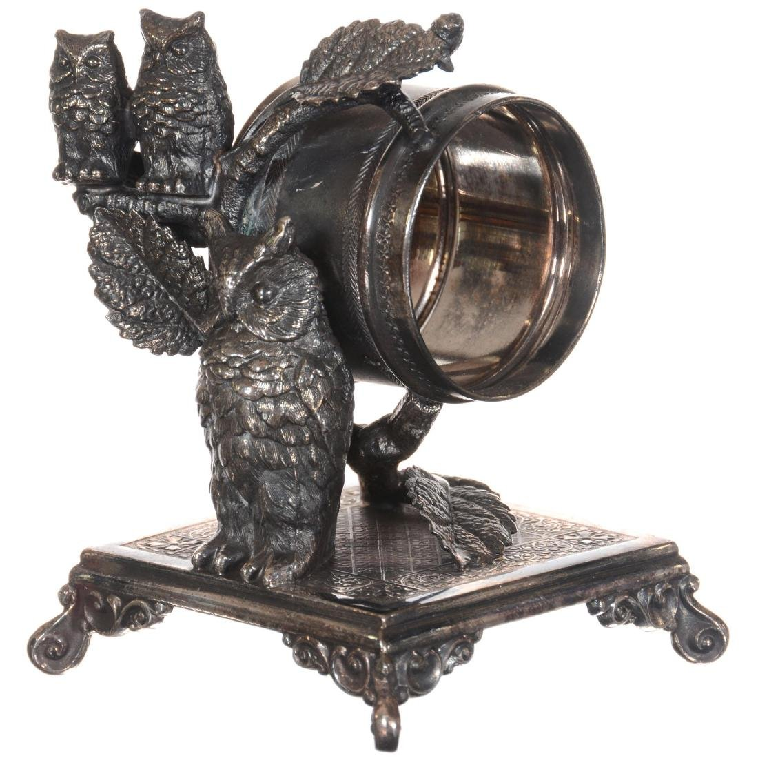Figural Silver-plate Napkin Ring Holder