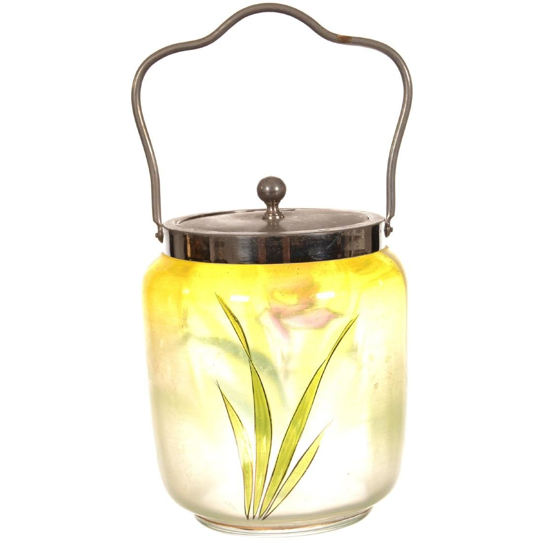 Art Glass Biscuit Jar - 2