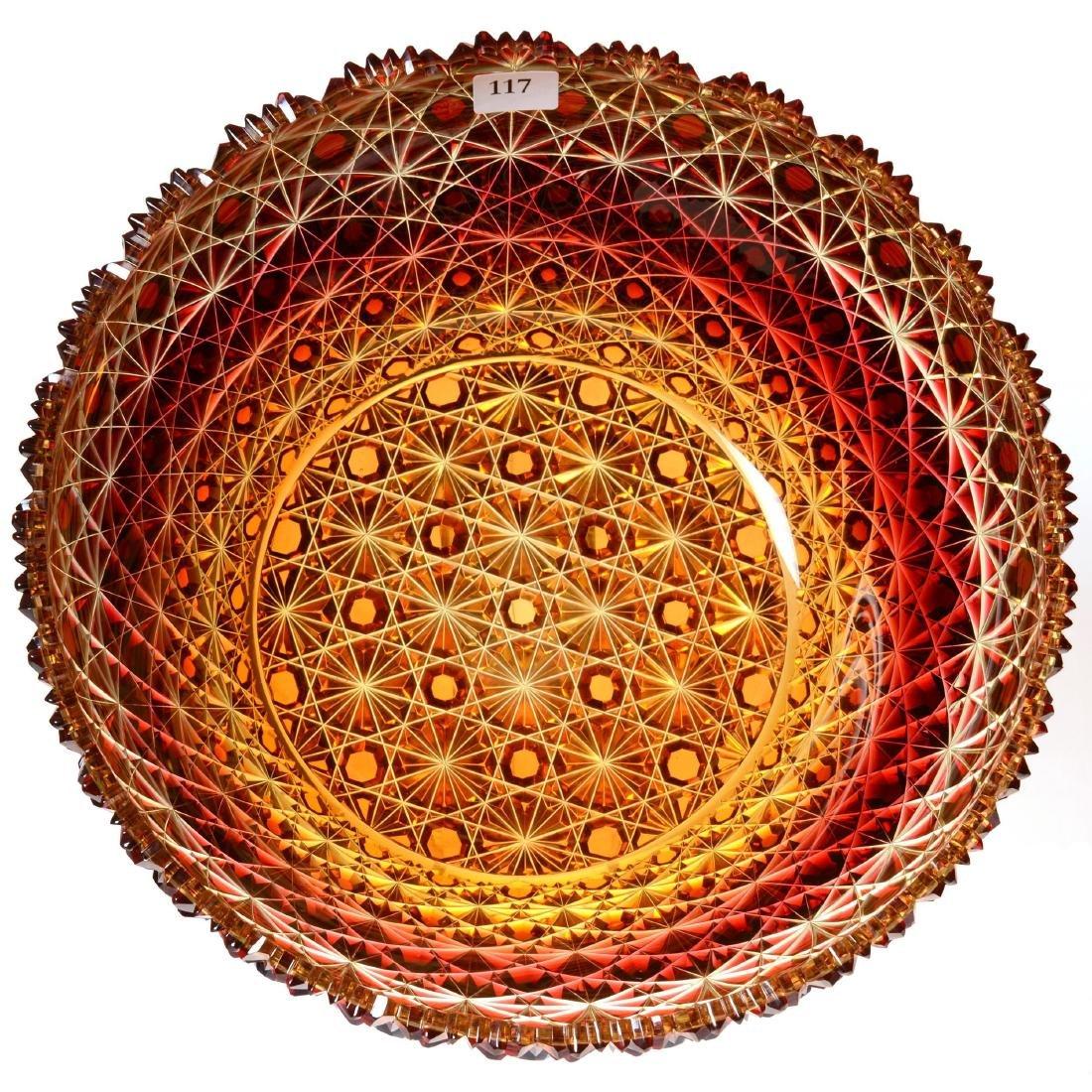 Extremely Rare Amberina Bowl - ABCG