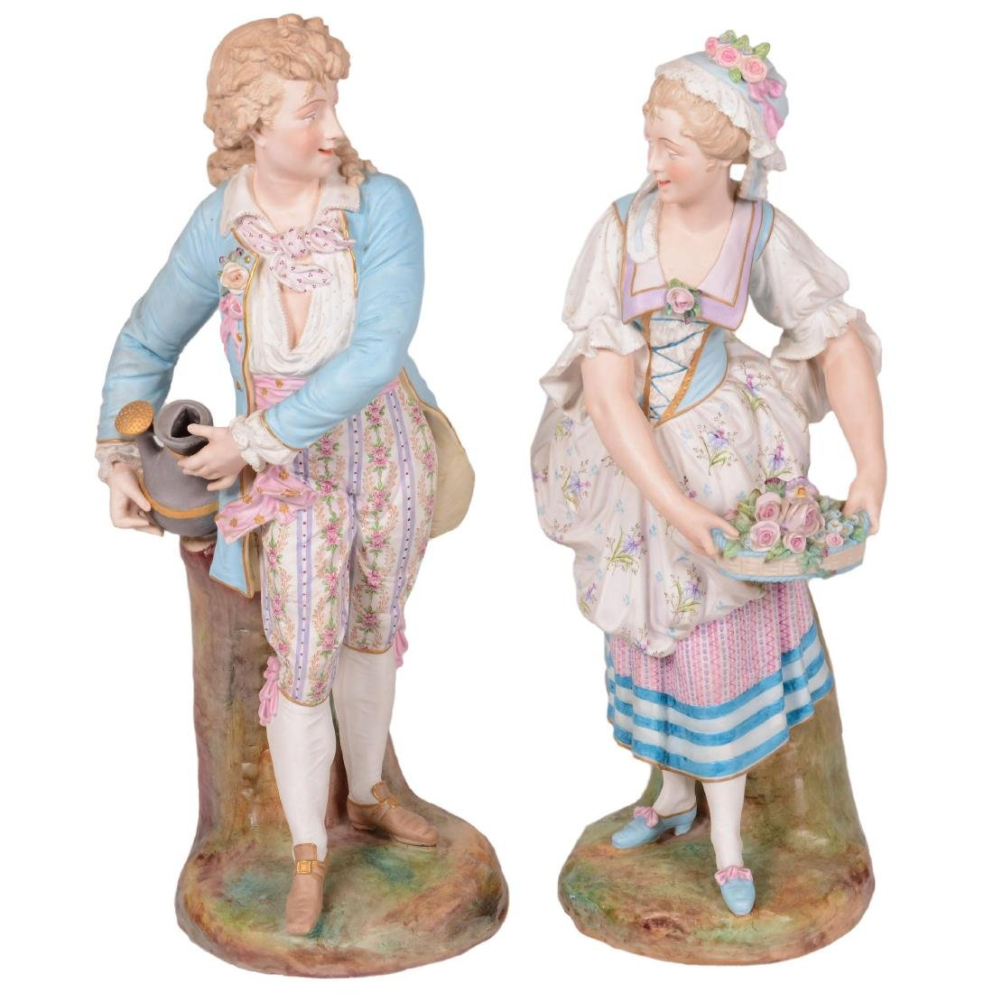 Pair French Bisque Figures