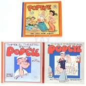 3 Original Vintage Popeye Comic Books