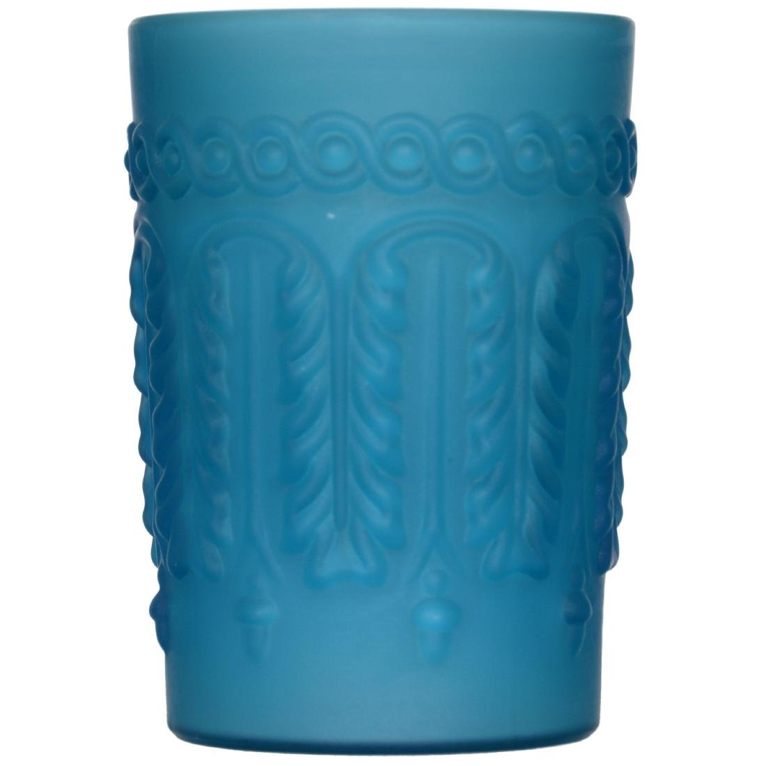 Frosted Blue Cased Art Glass Water Set - 4