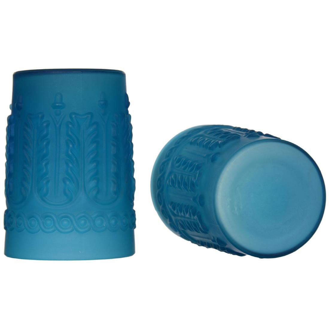 Frosted Blue Cased Art Glass Water Set - 5