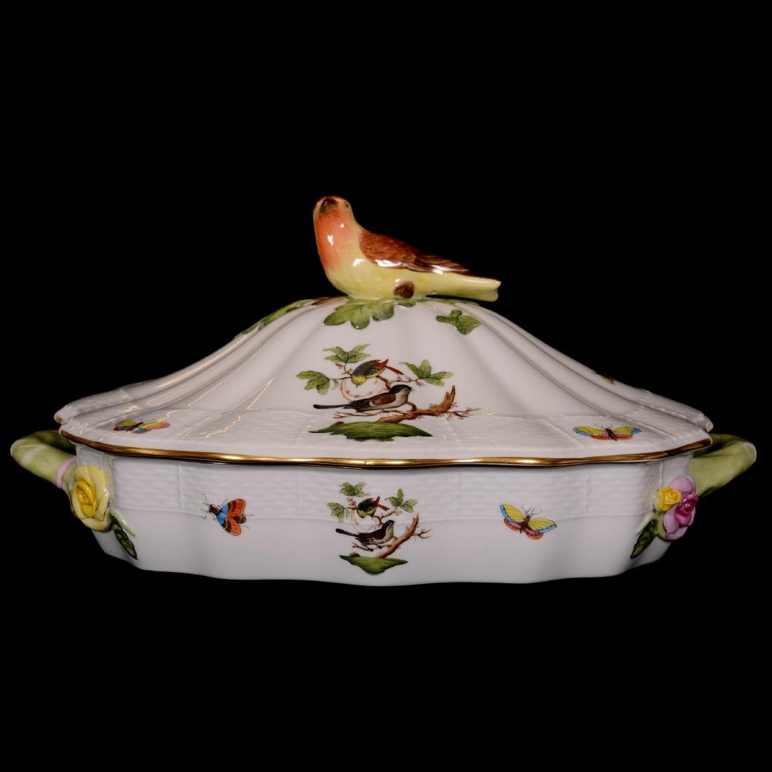 Herend Hungary Porcelain Hand Painted Covered Casserole