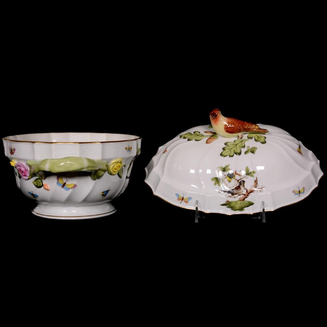 Herend Hungary Porcelain Hand Painted Covered Tureen - 2