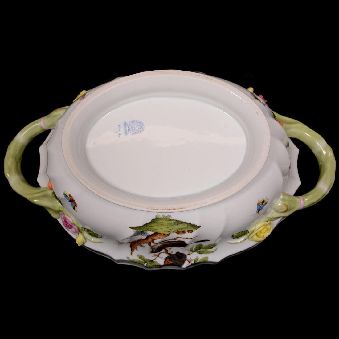 Herend Hungary Porcelain Hand Painted Covered Tureen - 3