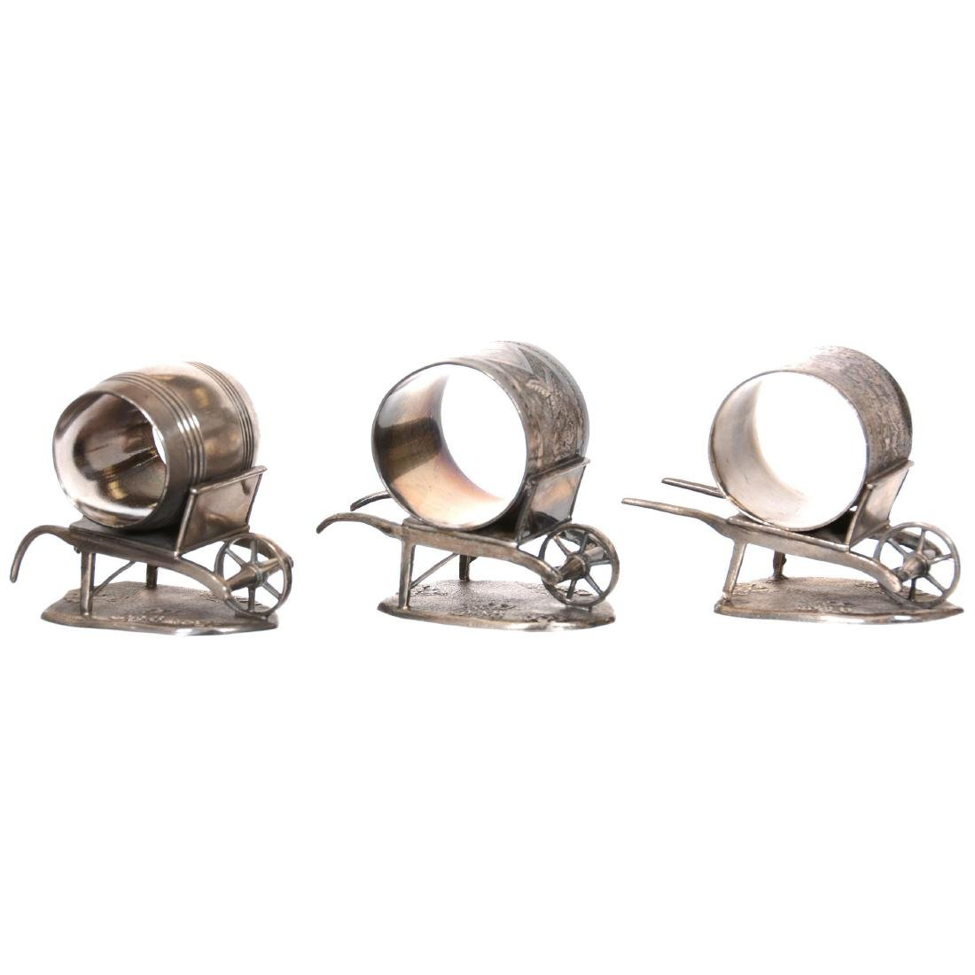 (3) Silverplate Victorian Napkin Rings