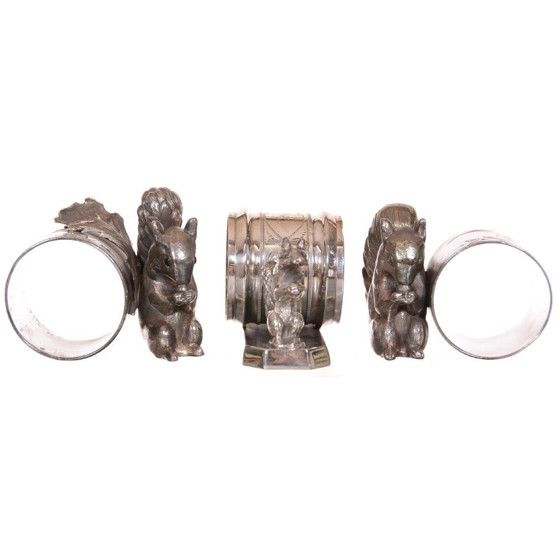 (3) Silverplate Victorian Napkin Rings