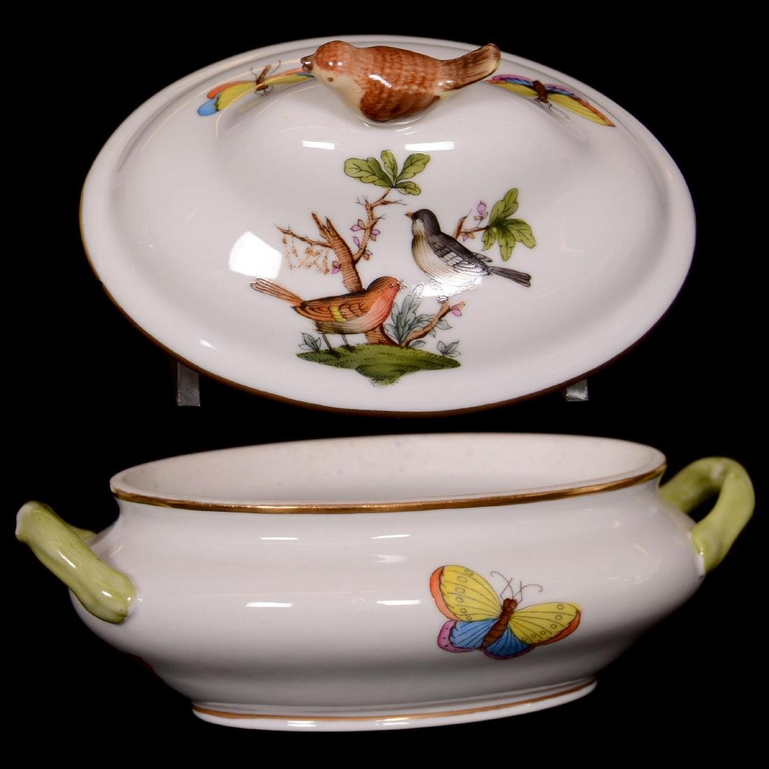 Herend Hungary Porcelain Hand Painted Miniature Covered - 2