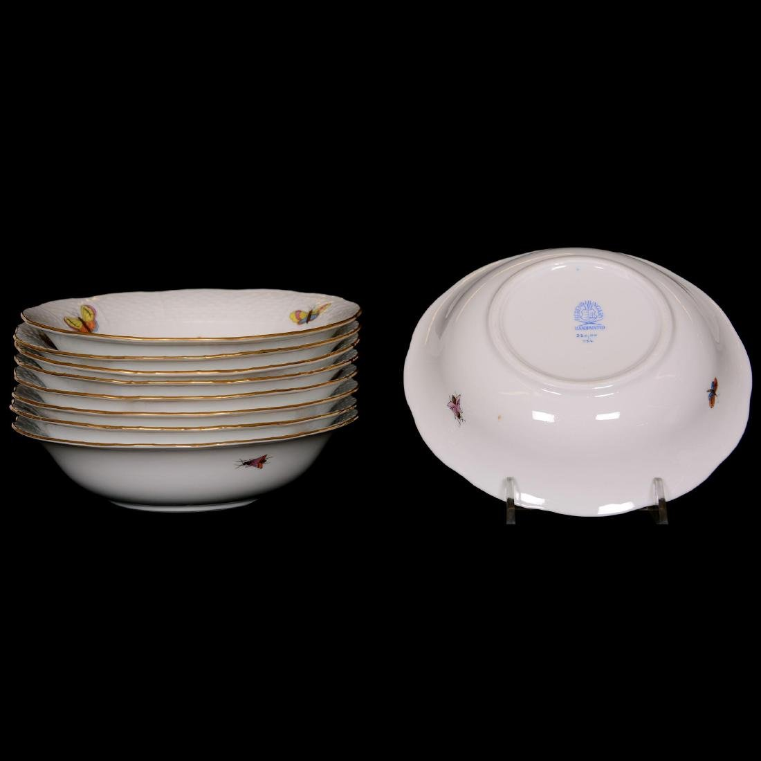 (28) Herend Hungary Porcelain Hand Painted Assorted Ite - 3