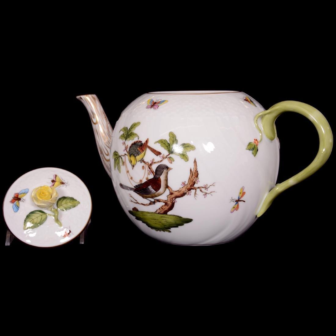 Herend Hungary Porcelain Hand Painted Fifteen Piece Tea - 2