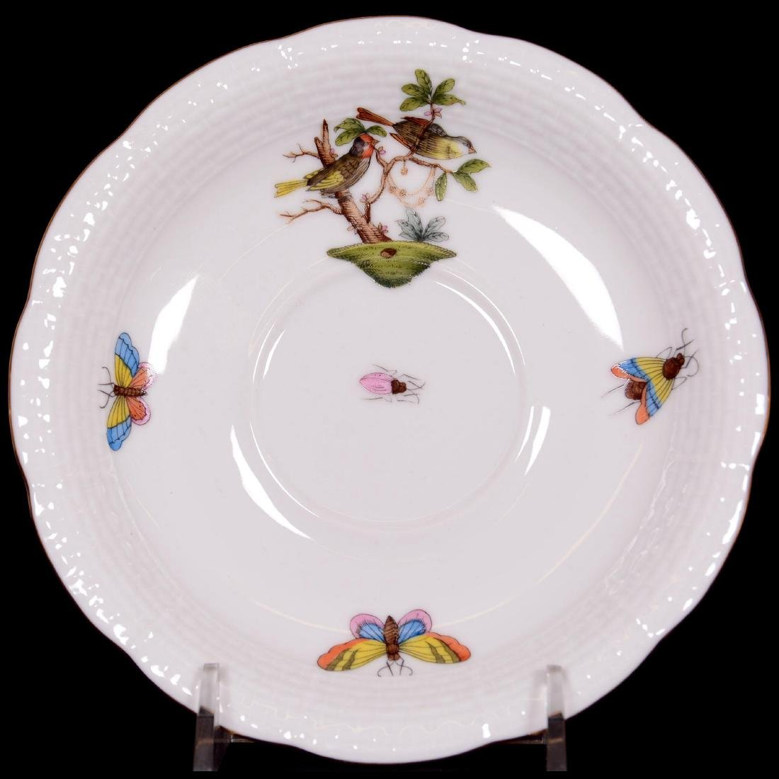 Herend Hungary Porcelain Hand Painted Fifteen Piece Tea - 3