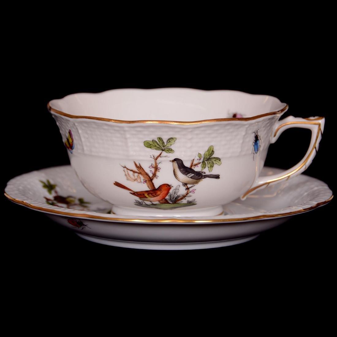 Herend Hungary Porcelain Hand Painted Fifteen Piece Tea - 5