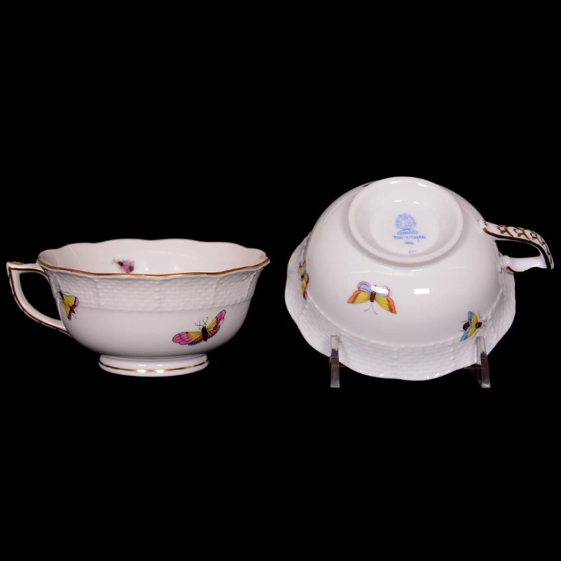 Herend Hungary Porcelain Hand Painted Fifteen Piece Tea - 6