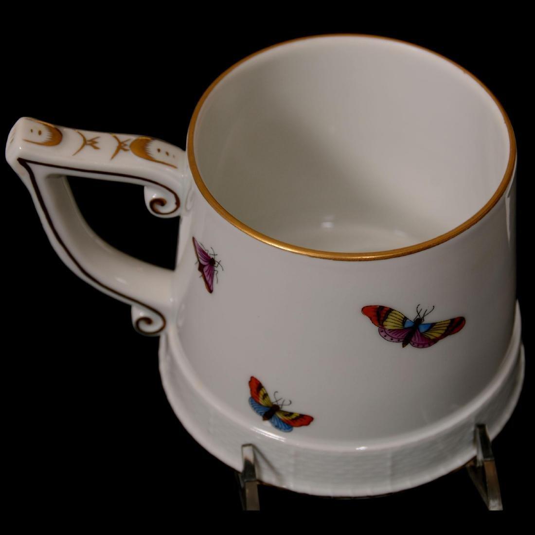 Herend Hungary Porcelain Hand Painted Grand Mug - 3
