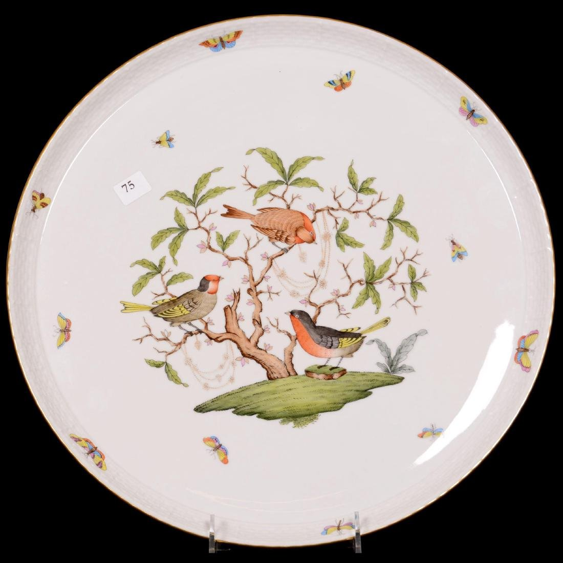 Herend Hungary Porcelain Hand Painted Round Tray