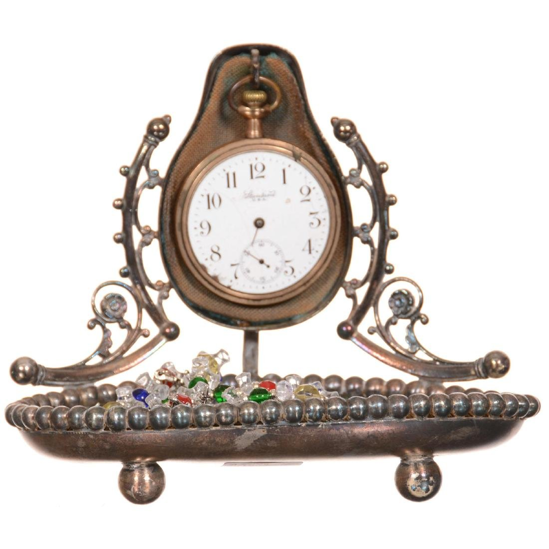 Silverplate Victorian Watch Stand/Trinket Tray