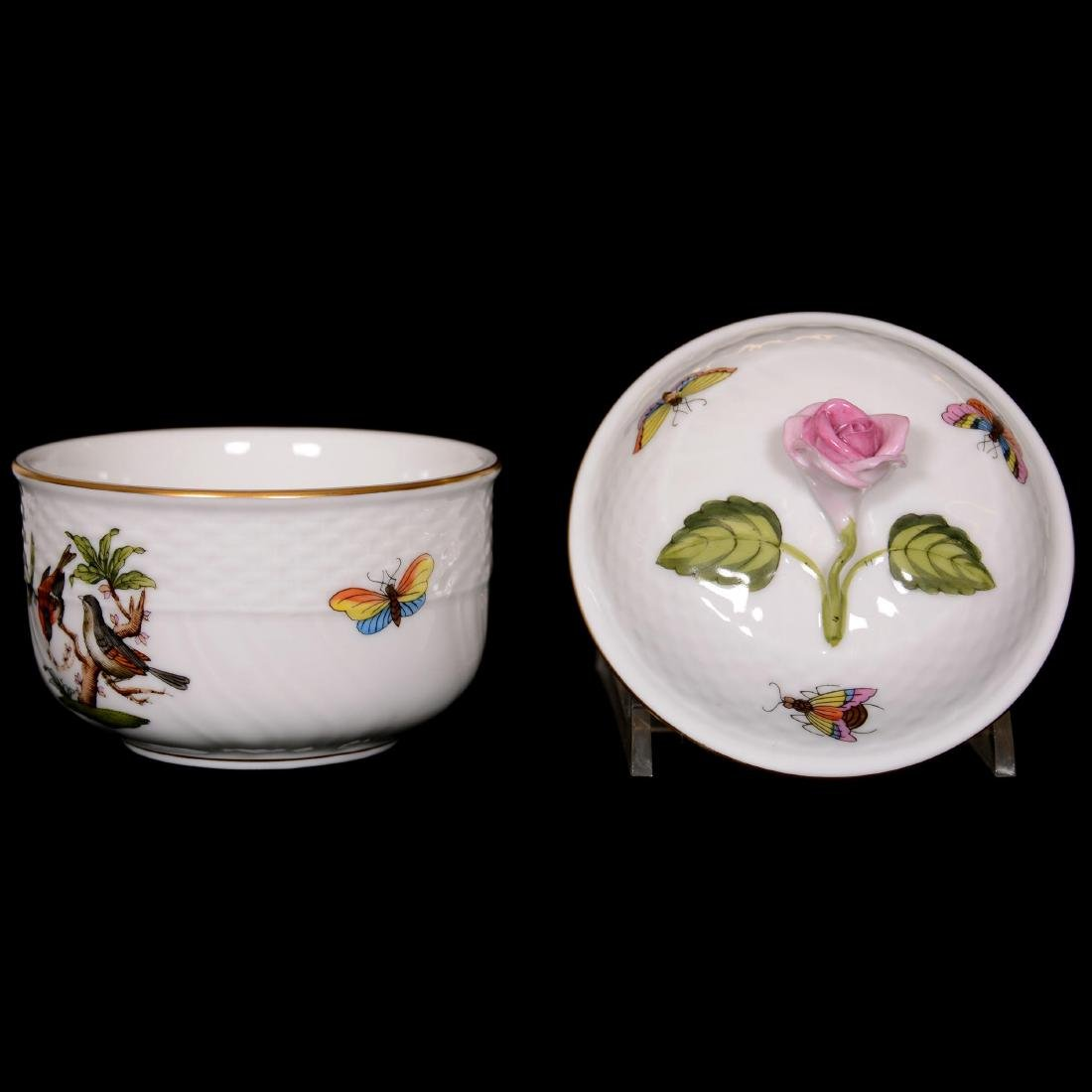 (6) Herend Hungary Porcelain Hand Painted Items - 3