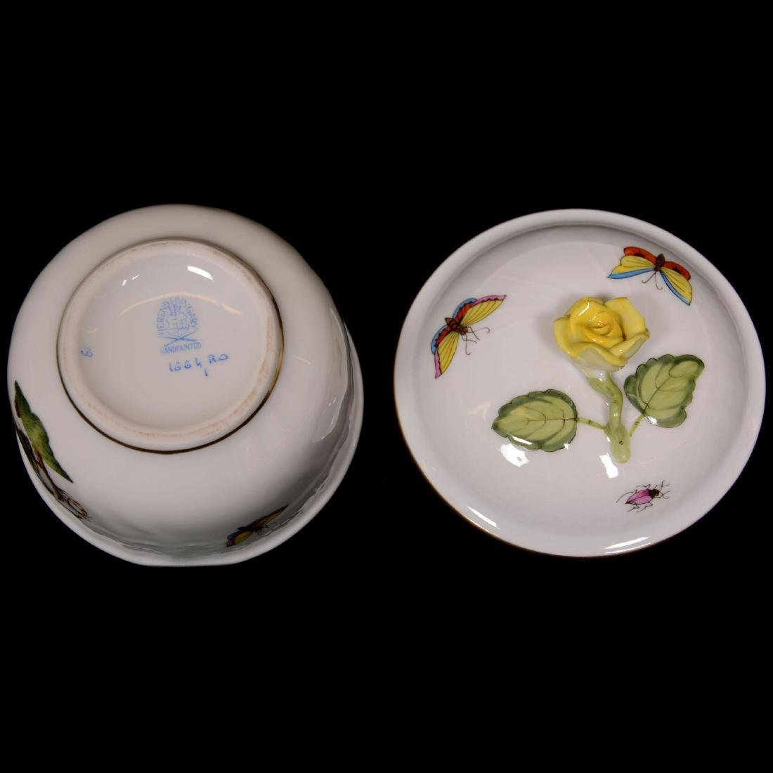 (6) Herend Hungary Porcelain Hand Painted Items - 4